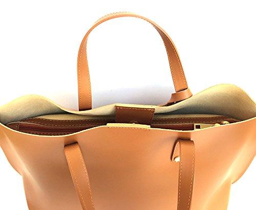 main SUPERFLYBAGS Italie Sac Lisse XL à Fabriqué cognac en Model Consuelo véritable en cuir rwEA7rqFx