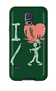 Durable Case For The Galaxy S5- Eco-friendly Retail Packaging(i Heart Zombies)