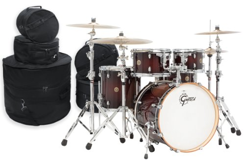 Gretsch Catalina Maple 5 Piece Drum Kit w/ Padded Bags-Dark (Gretsch Catalina Maple 5 Piece)