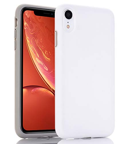 BAISRKE Case for iPhone XR, Hybrid Heavy Duty Protection Case Hard Plastic & Soft TPU Sturdy Shockproof Armor High Impact Resistant Cover for iPhone XR [White]