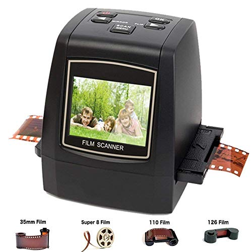 DIGITNOW Film Scanner with 22MP Converts 126KPK/135/110/Super 8 Films, Slides, Negatives All in One into Digital Photos,2.4″ LCD Screen, Impressive 128MB Built-in Memory (Renewed)