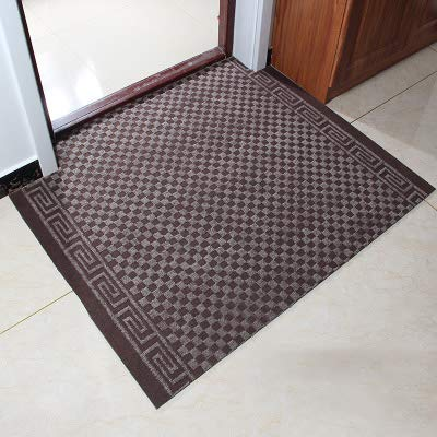 Brown 90x130cm(35x51inch) Carpet,Doormat Entrance Carpet No-Slipping mat Welcome mat Easy to Clean-Red A 90x130cm(35x51inch)