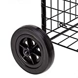Honey-Can-Do Black Four Wheel Utility Cart, Medium
