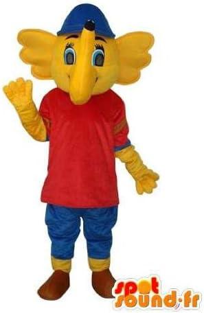変装を表す黄色の象