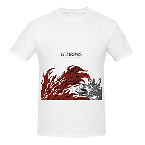 Neurosis Times Of Grace Rock Mens O Neck Printed Tee White