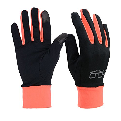 PRISAFETY Handlandy Lightweight Running Gloves, Touchscreen Jogging Gloves for Women & (Lightweight Running Gloves)