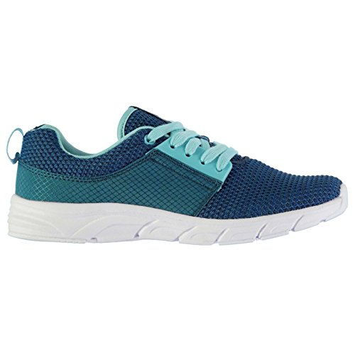 Tracés Tissu chemin de baskets Mode pour femme Bleu sarcelle/menthe Sneakers Chaussures de sport