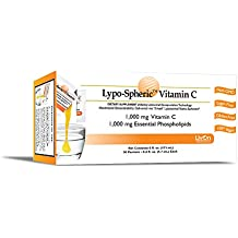 Lypo-Spheric Vitamin C , 0.2 fl oz. - 30 Packets | 1,000 mg Vitamin C Per Packet | Liposome Encapsulated for Maximum Bioavailability | Professionally Formulated | 100% Non-GMO, Ultra-Potent Vitamin C | 1,000 mg Essential Phospholipids Per Packet