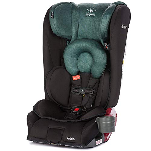 Diono Rainier All-in-One Convertible Car Seat, For Children from Birth to 120 Pounds, Black Forest