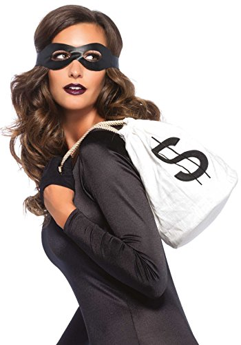 Leg Avenue Women's 3 Piece Bandit Costume Kit, Black, One Size]()