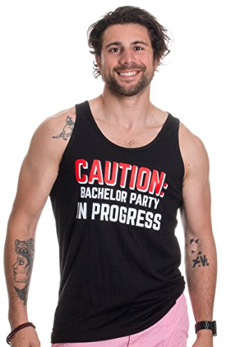 Caution: Bachelor Party in Progess | Stag Guys Night Out Wedding Unisex Tank Top