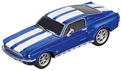 Carrera 64146 Ford Mustang '67 Racing Blue GO!!! Analog Slot Car Racing Vehicle 1:43 Scale (Go Carrera)