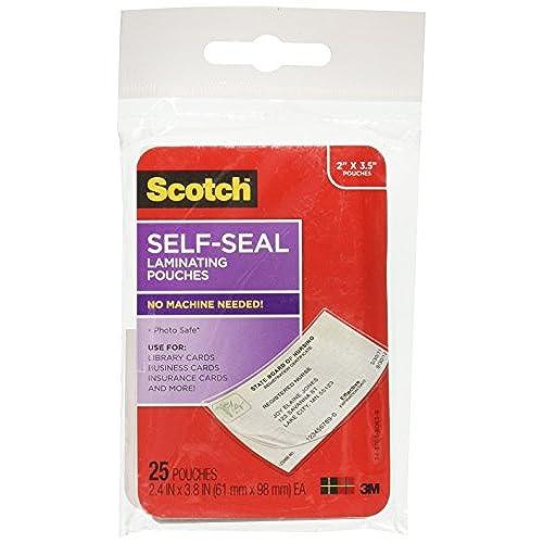 Delicate scotch self sealing laminating pouches 25 pack ls851g delicate scotch self sealing laminating pouches 25 pack ls851g business reheart Choice Image