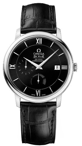 Omega DeVille Prestige Black Dial Automatic Mens Watch 424.13.40.21.01.001