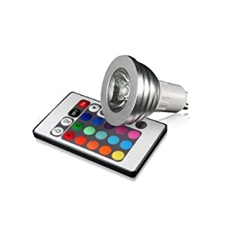 yg set dimmable gu10 rgb led spotlight bulb color changing with remote control. Black Bedroom Furniture Sets. Home Design Ideas