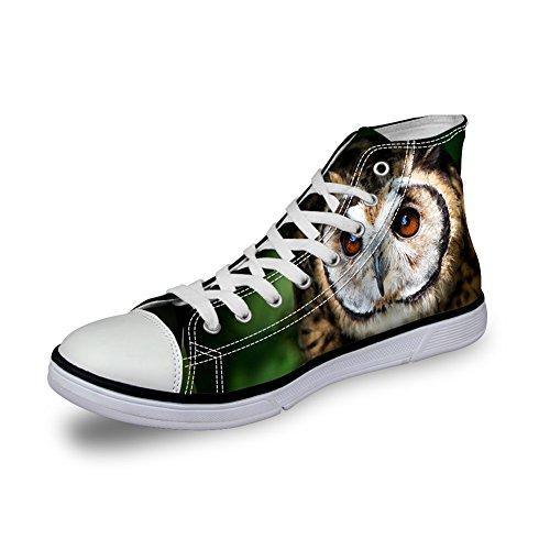 För U Designar 3d Djurparksdjur Mönster Lägenheter Sneakers För Mens Canvas Skor C4035ak