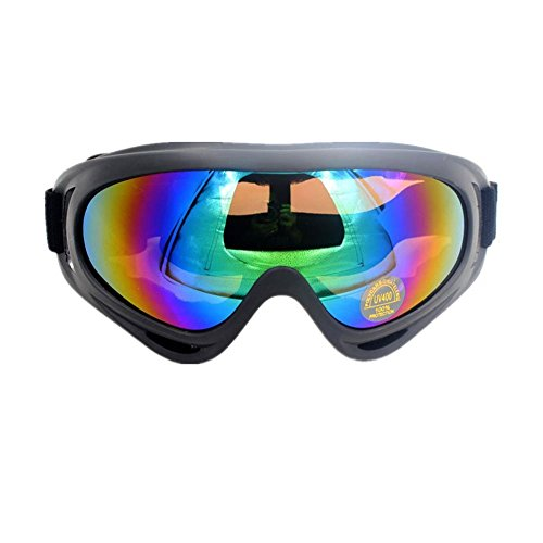 Angogo Ski Goggles Ski Snowboard Skate Goggles Adjustable UV Protective Motorcycle Goggles Outdoor Tactical Glasses Dust-proof Protective Combat - Sunglasses Small Of For Faces Best Type