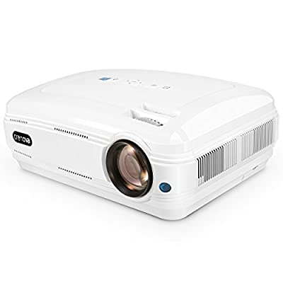 Crenova XPE Series Portable HD Projector with Free HDMI Cable for Home Theater Cinema