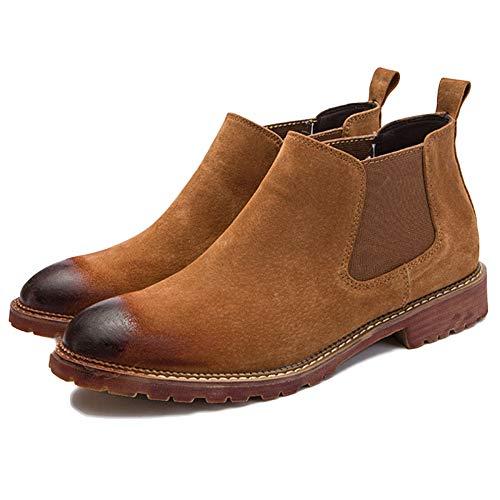 da Pelle Uomo Uomo Basse Autunno Brogue Scarpe da Stivali Brown Nozze Classic Uomo Chelsea Boots Sicurezza q1OnE