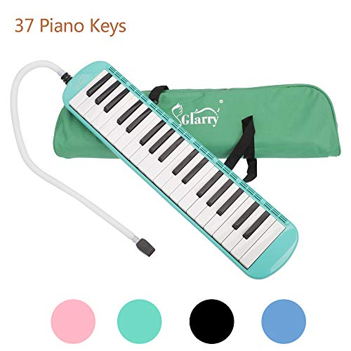 Pocooyo 37-Key Melodica Instrument Piano Keyboard with Mouthpiece, Hose and Carrying Bag for Music Lovers Beginners Gift (Green)