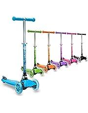 3StyleScooters® RGS-1 Petite Trottinette à Trois Roues pour Enfants - Idéal pour Les Enfants de Plus de 3 Ans, Dotée de Roues à Lumières LED, Modèle Pliable, Poignées Réglables et Cadre Léger