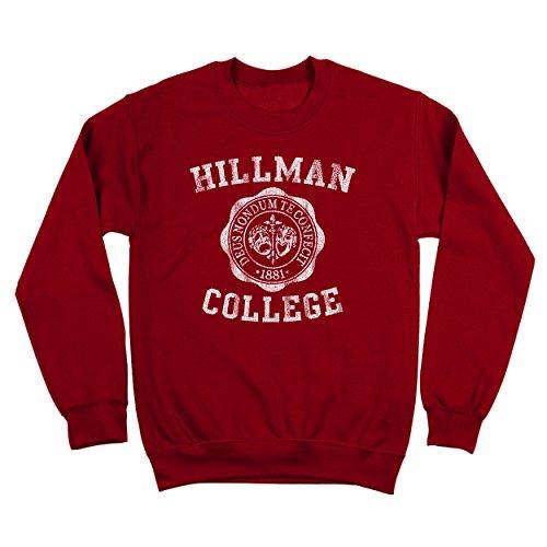 Hillman College Funny University School Retro Classic Different 80s 90s Show Humor University Emblem Funny Urban Different Cool 80s 90s Show Humor Mens Sweatshirt Medium - Urban Fashion 80s