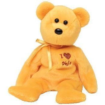 b1f0517326e Amazon.com  TY Beanie Baby - OHIO the Bear (I Love Ohio - State ...
