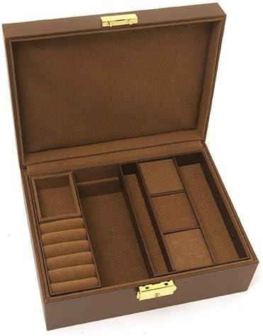 ジュエリーボックス シックブラウン L (鍵付き) アクセサリーケース