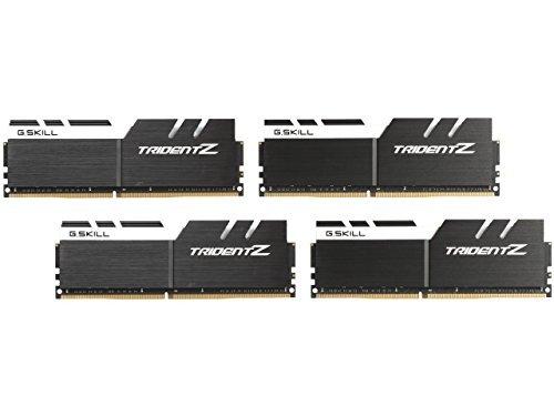 G.SKILL 64GB (4 x 16GB) TridentZ Series DDR4 PC4-25600 3200MHz For Intel X99 Platform Desktop Memory Model F4-3200C16Q-64GTZKW