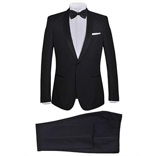 Noir Homme Tuxedo Pcs Smoking cravate 2 Costard Veston Vidaxl Costume p4SWAcqy