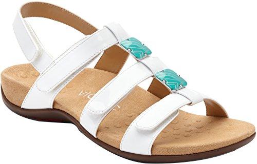 Vionic Women's Orthaheel, Amber Sandal White Patent 11 W