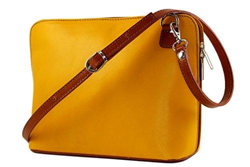 Plusieurs Chloly Coloris Petit petit sac Italie Jaune Femme Miou Miou Miou Clair Miou pochette Sac Cuir qXnHSq