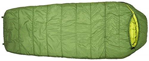 Eureka! Lone Pine 20-Degree Regular Length Semi-Rectangular Mummy Sleeping Bag, Three-Season, Green