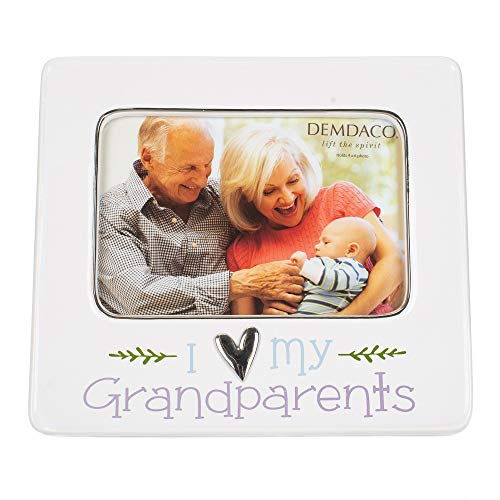 (DEMDACO Grandparents 8 x 7 Ceramic with Metal Accents Picture Frame )
