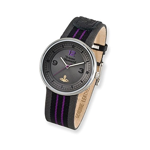 Unisex Vivienne Westwood Spirit Purple/Black/Grey Strap Watch