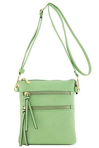 Functional Multi Pocket Crossbody Bag (Mint)