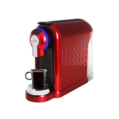 Legato Single Serve (Nespresso Compatible) Coffee / Tea / Espresso Machine (Metallic Red) 30 FREE CAPSULES INCLUDED IN BOX