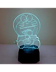 doraemon Silicone children's color changing bedside night light, USB rechargeable LED light, children's touch/light press bedside night light, baby/child/child night light
