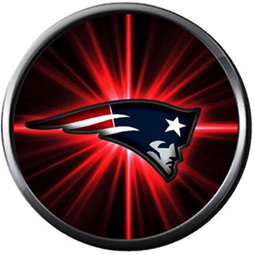 NFL New England Patriots Cool Burst Logo Game Lovers Team Spirit 18MM - 20MM Fashion Jewelry Snap Charm ()
