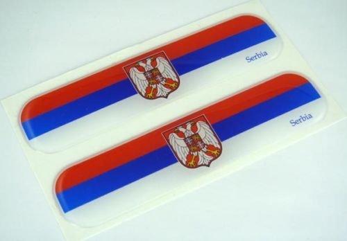 Serbia, Serbian Flag Domed Decal Emblem Car Flexible Sticker 5