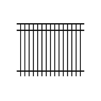Allure Aluminum 4 ft. H x 6 ft. W Aluminum Black Unassembled Metropolitan 2-Rail Fence Sections (4-Pack)