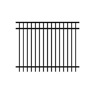 Allure Aluminum Cosmopolitan 5 ft. x 6 ft. Black Aluminum 3-Rail Unassembled Fence Panel (4-Pack)