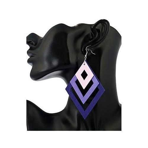 MJW&EH Femme Boucles d'oreille goutte Bijoux Mode Style Simple Bois Forme Géométrique Bijoux Décontracté Sortie Bijoux de fantaisie , one size