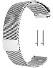 General Metal Mesh Watch Band Quick Release Strap Adjustable Universal Bracelet Wristband Stainless Steel Replacement Straps for Women Men