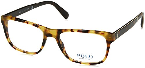 Polo Men's PH2166 Eyeglasses Shiny Havana Spotty - Polo Glasses Prescription