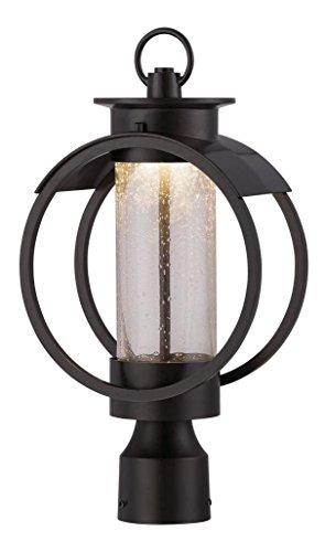 Burnished Bronze Arbor 1 Light Lantern Post Light by Designers Fountain
