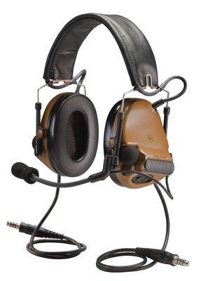 3M PELTOR COMTAC 93440 PELTORCOMTACIII MT17H682FB-19 CY Advanced Combat Helmet (ACH) Communication Headset, Dual COMM, Headband, 2'' Height, 6'' Length, 4'' Width, Coyote Brown