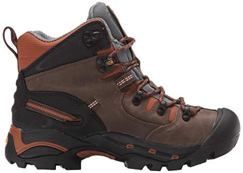 KEEN Utility Mens Pittsburgh Soft Toe Work Boot Cascade Brown/Bombay Brown xO9pIW