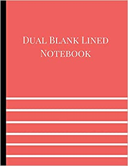 dual blank lined notebook half lined half blank journal half lined