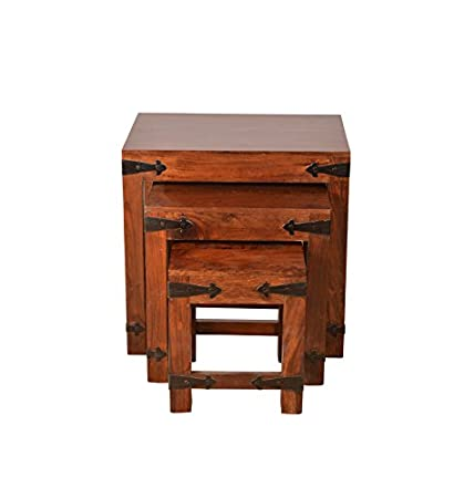 HomeTown Tudor Nesting Table (Brown)